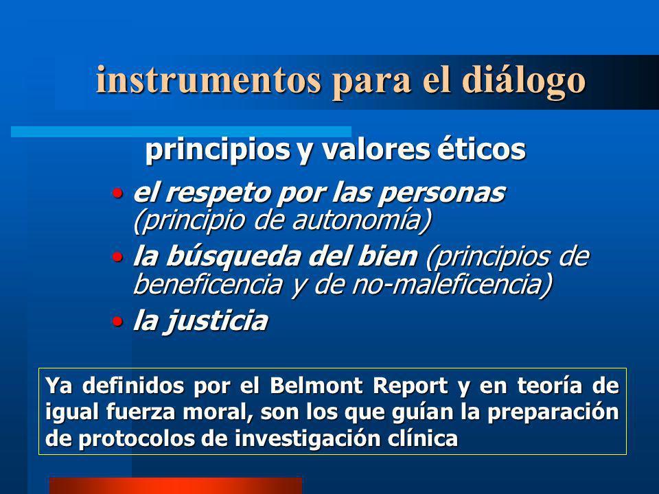 principios y valores éticos el respeto por las personas (principio de autonomía)el respeto por las personas (principio de autonomía) la búsqueda del b