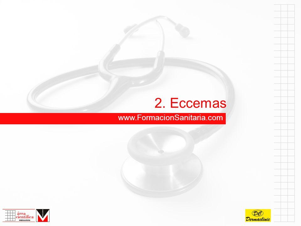 2.4 Eccema seborreico (seborrea facial) Lesión elemental:Eritema, escamas, costras.