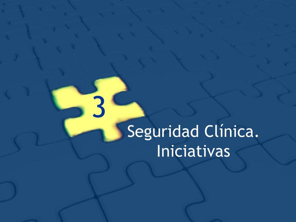 3 Seguridad Clínica. Iniciativas
