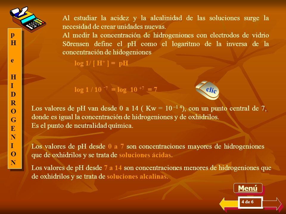 Es un concepto muy importante, porque una concentración igual de los hidrogeniones y de los oxhidrilos se define como la neutralidad química. Esta con