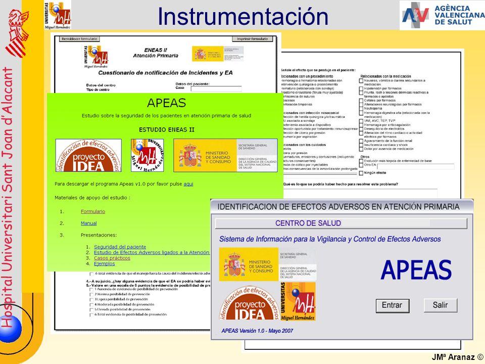 Hospital Universitari Sant Joan dAlacant JMª Aranaz © Instrumentación