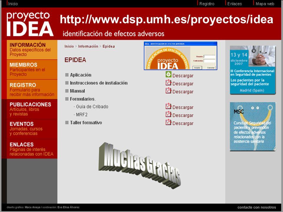Hospital Universitari Sant Joan dAlacant JMª Aranaz © http://www.dsp.umh.es/proyectos/idea