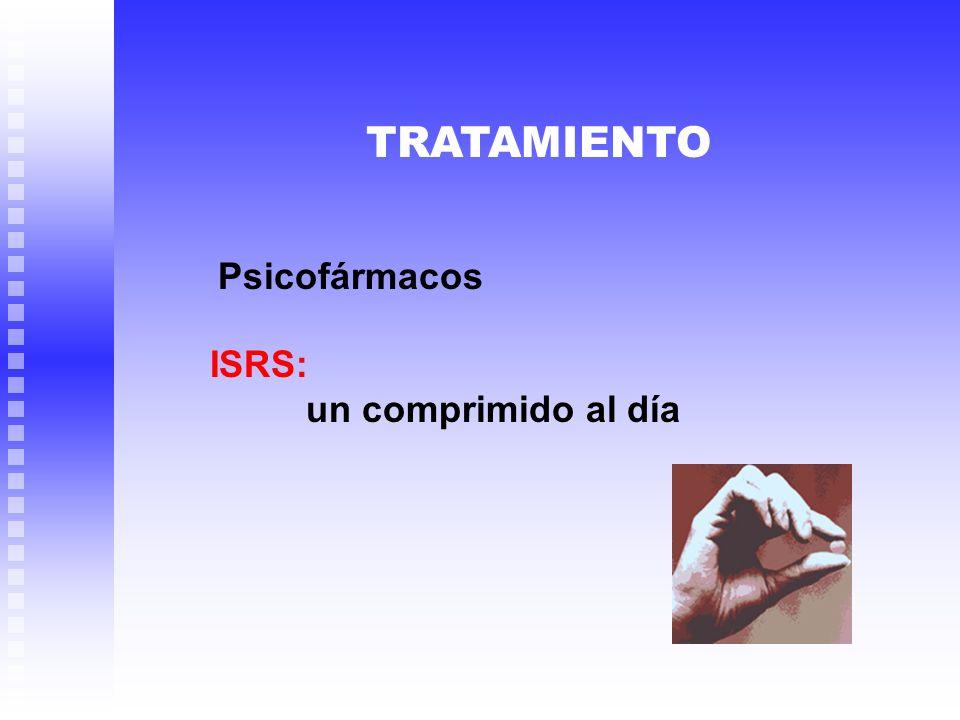 TRATAMIENTO Psicofármacos ISRS: un comprimido al día
