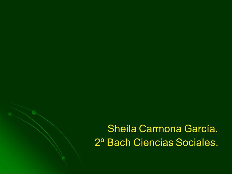 Sheila Carmona García. 2º Bach Ciencias Sociales.