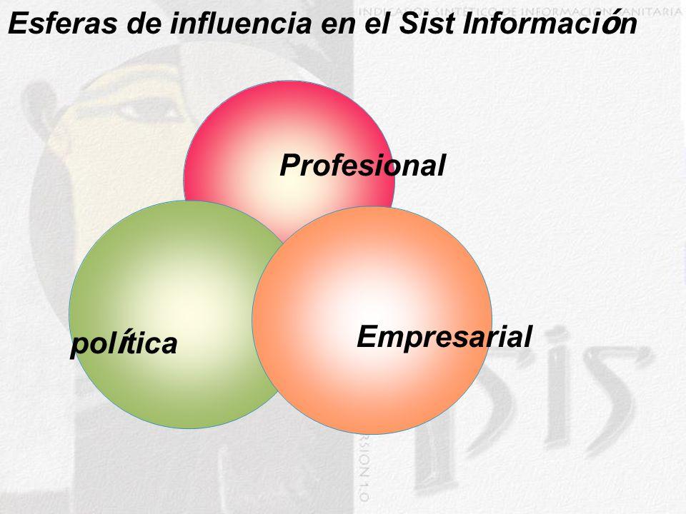 pol í tica Empresarial Profesional Esferas de influencia en el Sist Informaci ó n