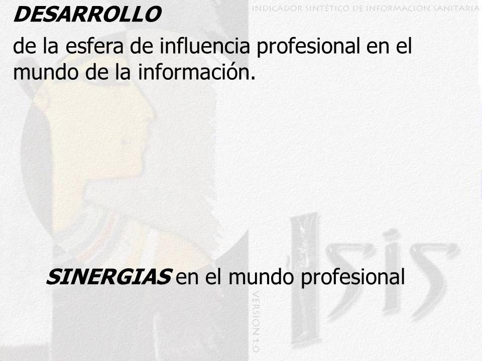 DESARROLLO SINERGIAS en el mundo profesional de la esfera de influencia profesional en el mundo de la información.