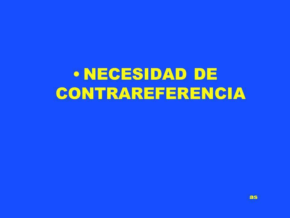 NECESIDAD DE CONTRAREFERENCIA as