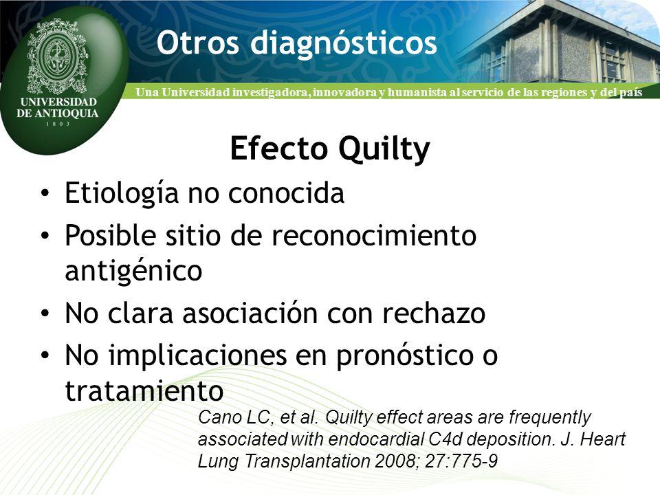Una Universidad investigadora, innovadora y humanista al servicio de las regiones y del país Otros diagnósticos Efecto Quilty Etiología no conocida Po