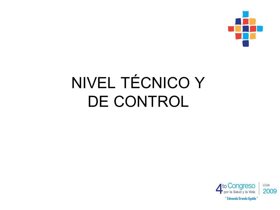 NIVEL TÉCNICO Y DE CONTROL