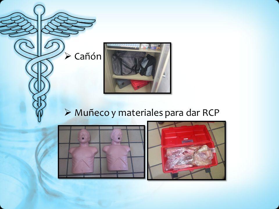 Cañón Muñeco y materiales para dar RCP