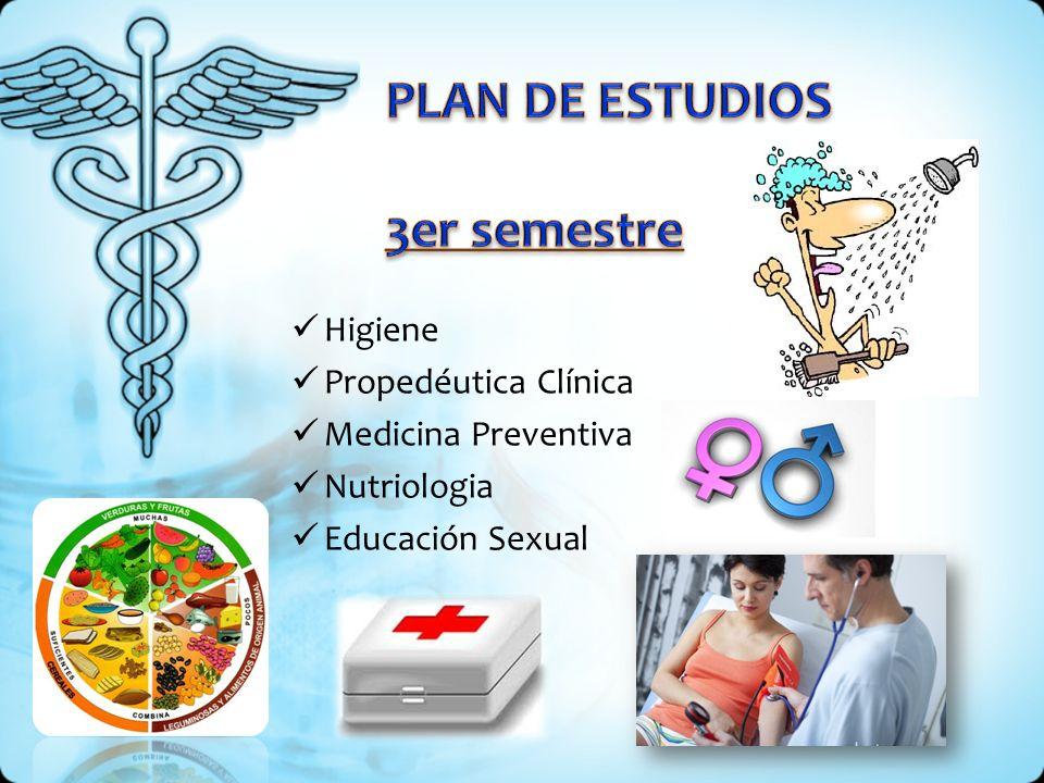 Higiene Propedéutica Clínica Medicina Preventiva Nutriologia Educación Sexual