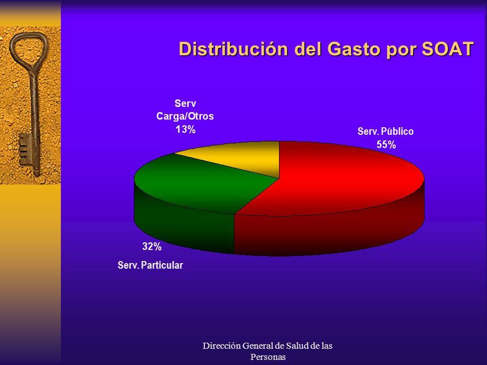 Dirección General de Salud de las Personas Distribución del Gasto por SOAT Serv. Público Serv. Particular