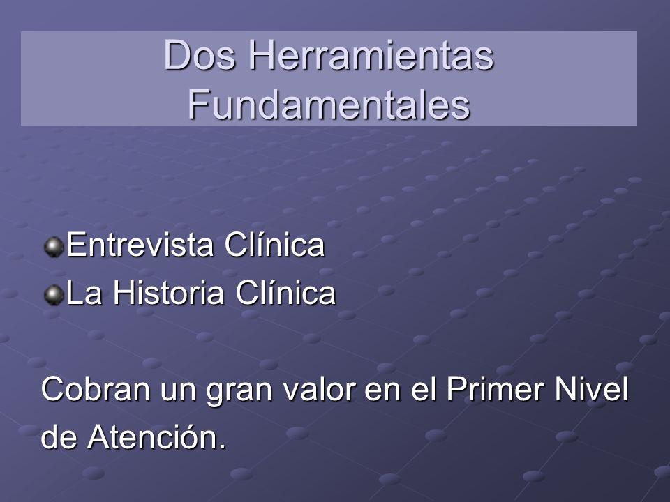 Dos Herramientas Fundamentales Entrevista Clínica La Historia Clínica Cobran un gran valor en el Primer Nivel de Atención.