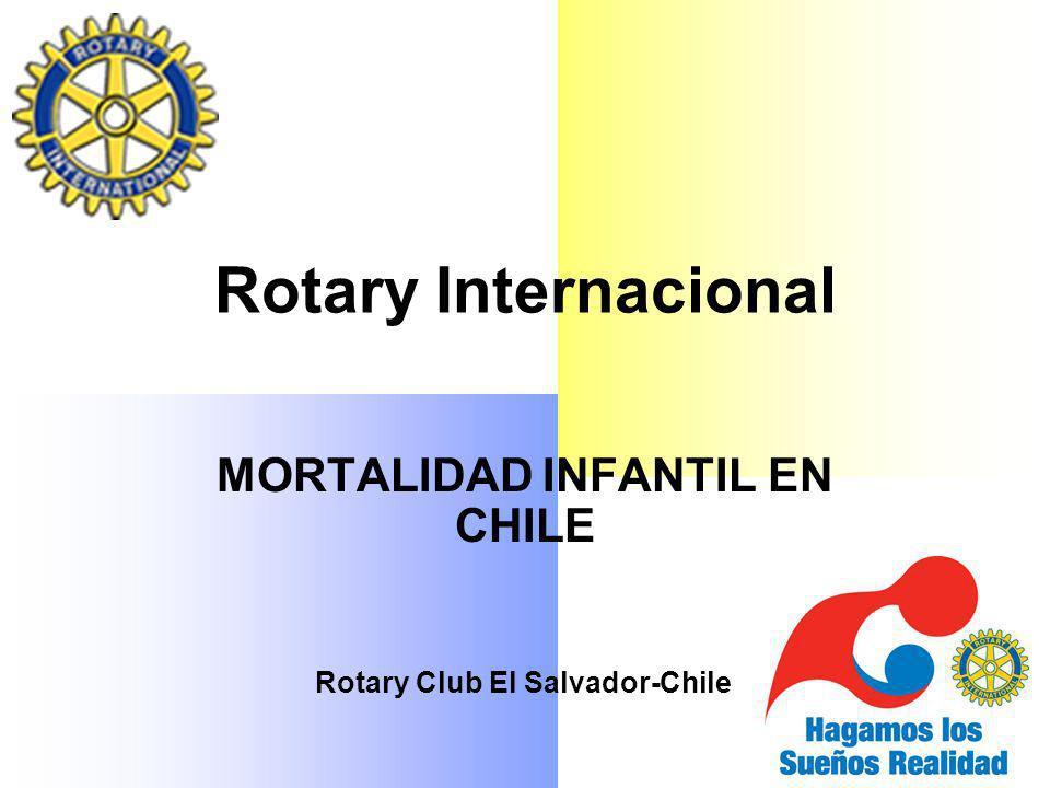 Rotary Internacional MORTALIDAD INFANTIL EN CHILE Rotary Club El Salvador-Chile
