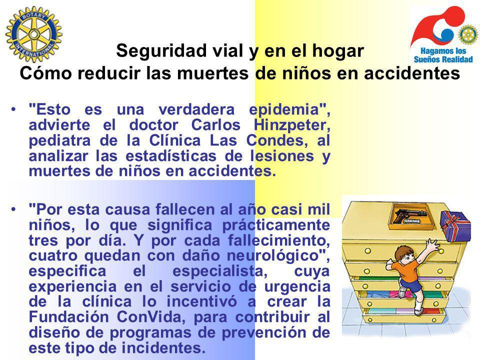 Seguridad vial y en el hogar Cómo reducir las muertes de niños en accidentes