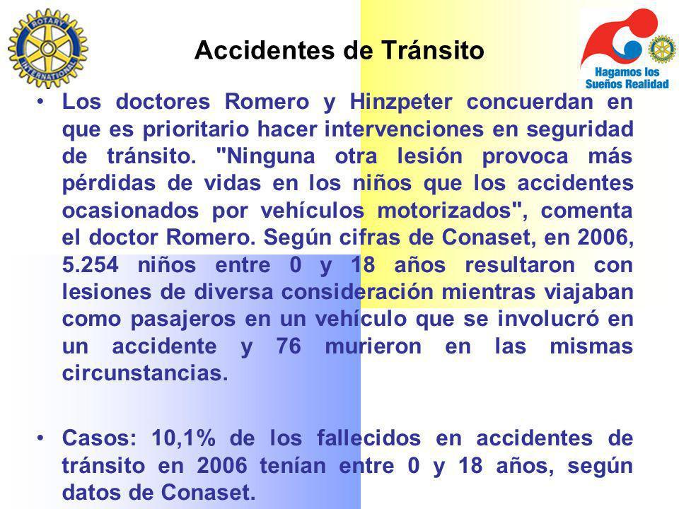 Los doctores Romero y Hinzpeter concuerdan en que es prioritario hacer intervenciones en seguridad de tránsito.
