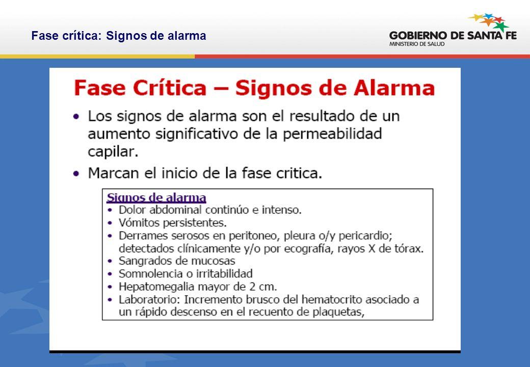Fase crítica: Signos de alarma