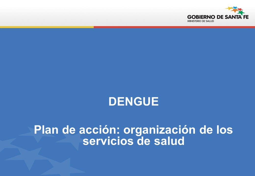 DENGUE Plan de acción: organización de los servicios de salud