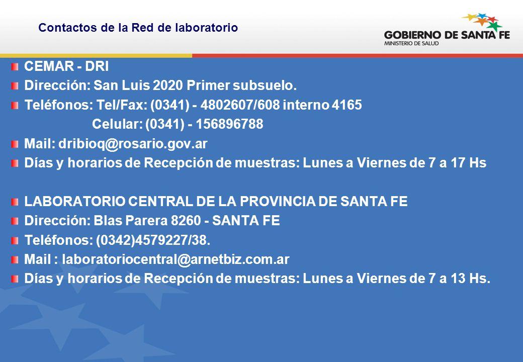 CEMAR - DRI Dirección: San Luis 2020 Primer subsuelo.