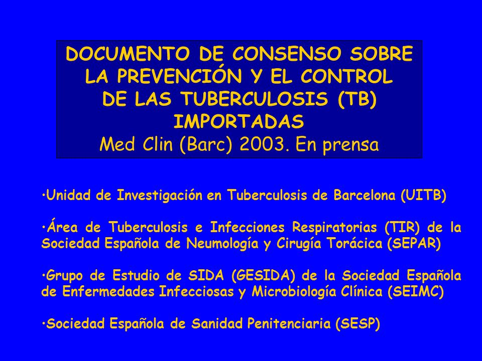 Incidencia estimada de TB en el mundo en 2001.
