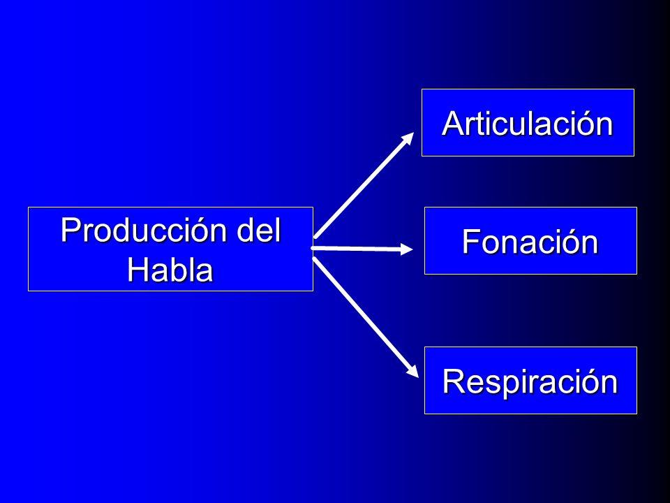 Producción del Habla Respiración Fonación Articulación