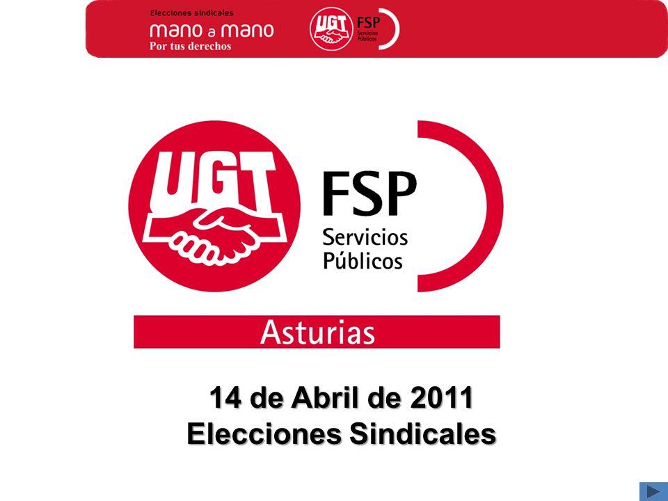 14 de Abril de 2011 Elecciones Sindicales