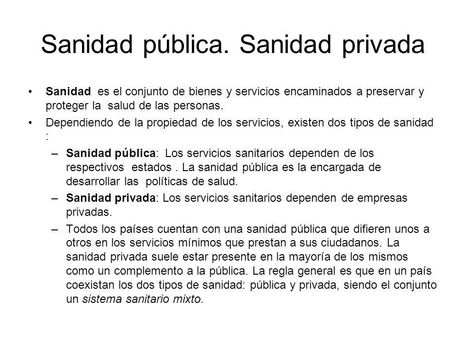 Sanidad pública.