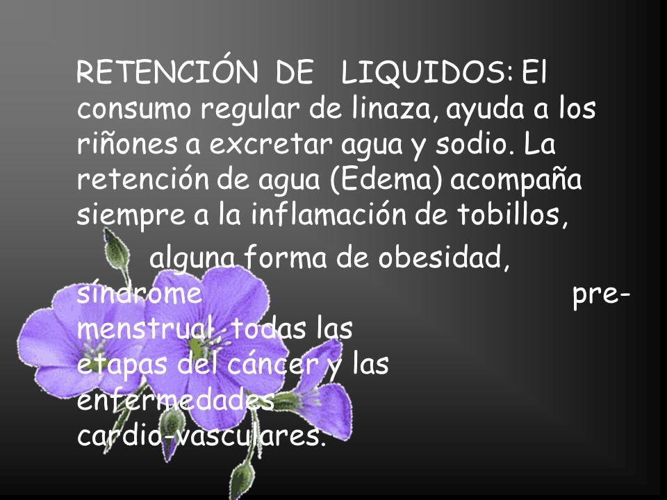 ENFERMEDADES INFLAMATORIAS: El consumo de linaza disminuye las condiciones inflamatorias de todo tipo.