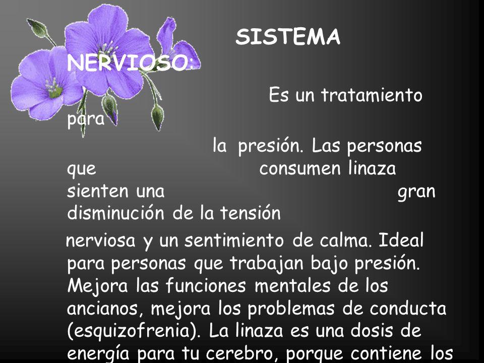 SISTEMA NERVIOSO: Es un tratamiento para la presión.