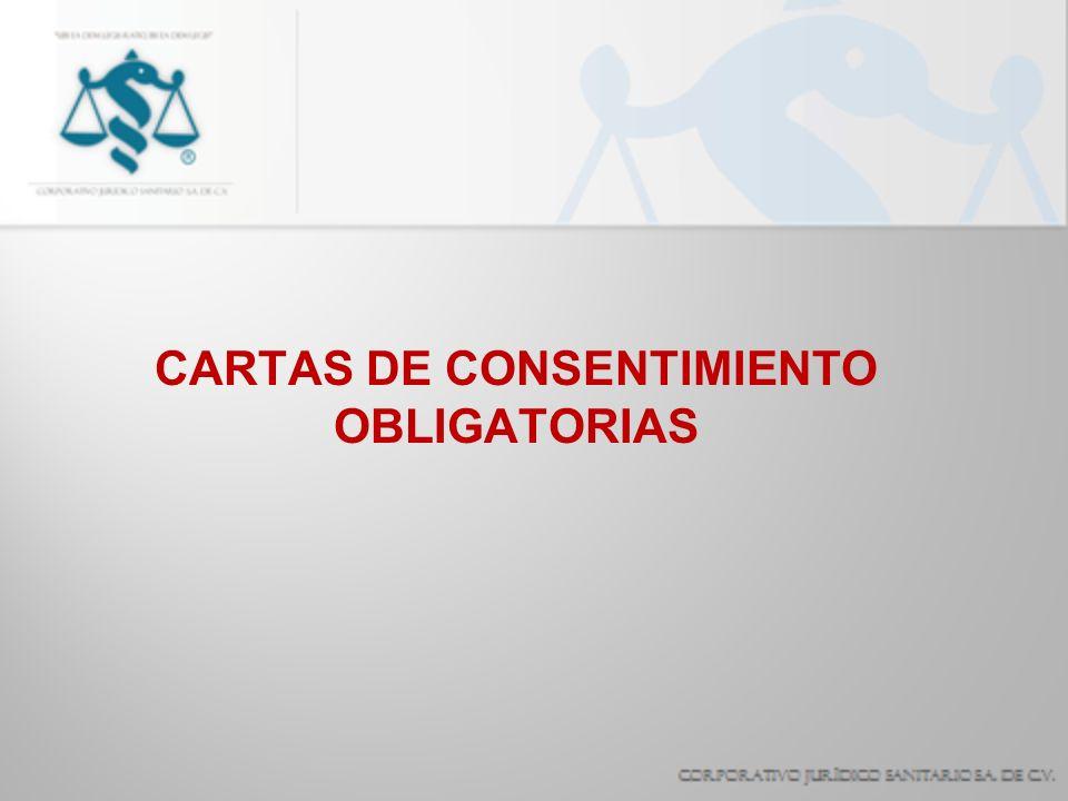 CARTAS DE CONSENTIMIENTO OBLIGATORIAS