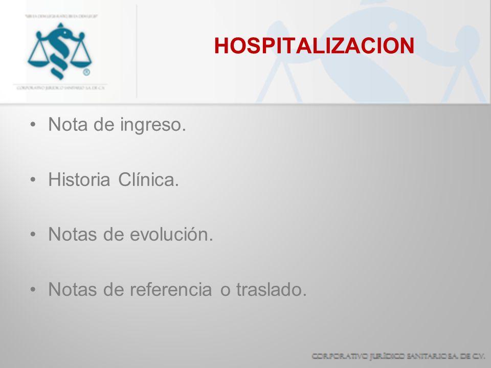 Ingreso hospitalario.Procedimientos de cirugía mayor.
