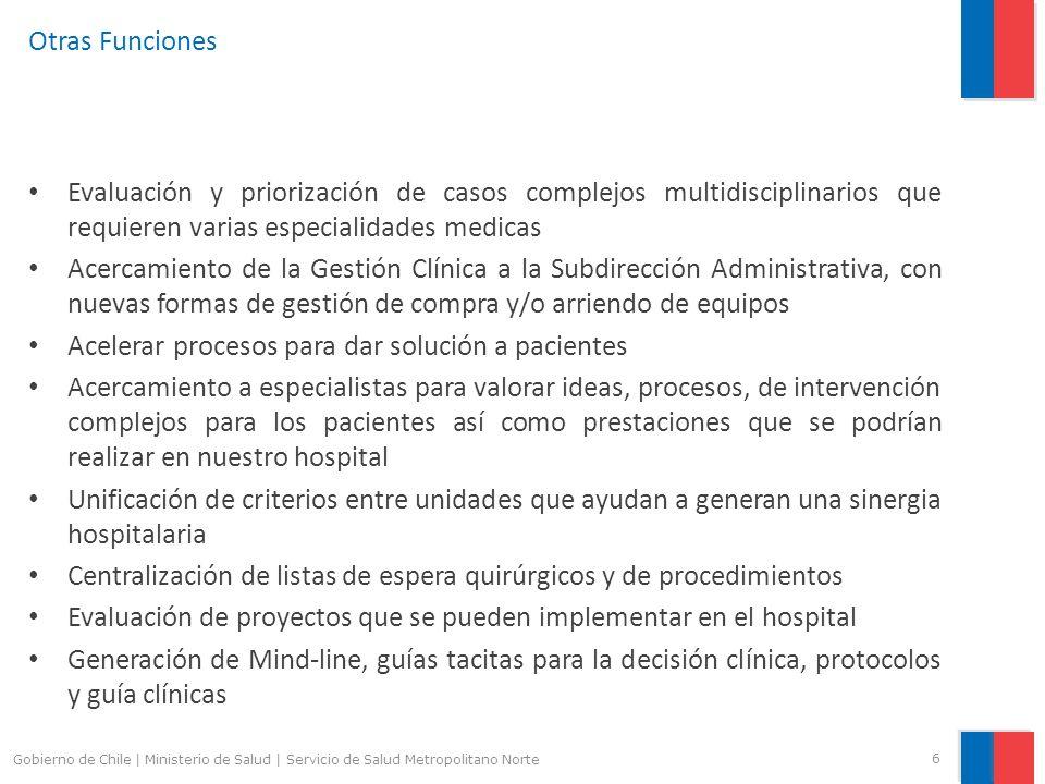 Otras Funciones Evaluación y priorización de casos complejos multidisciplinarios que requieren varias especialidades medicas Acercamiento de la Gestió
