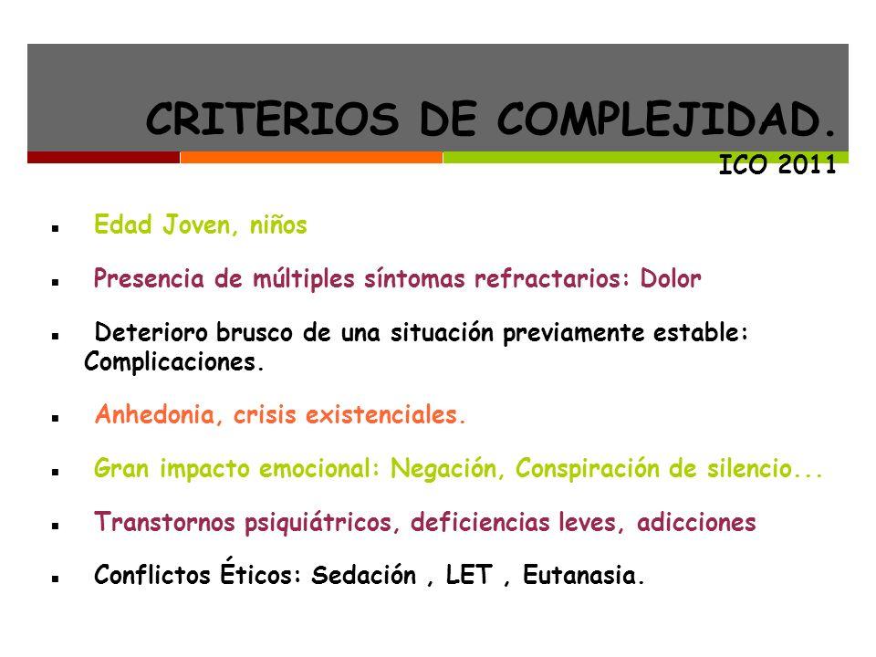 CRITERIOS DE COMPLEJIDAD.