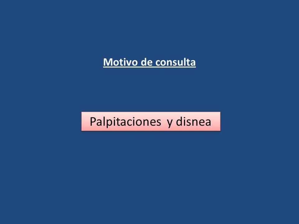 Motivo de consulta Palpitaciones y disnea