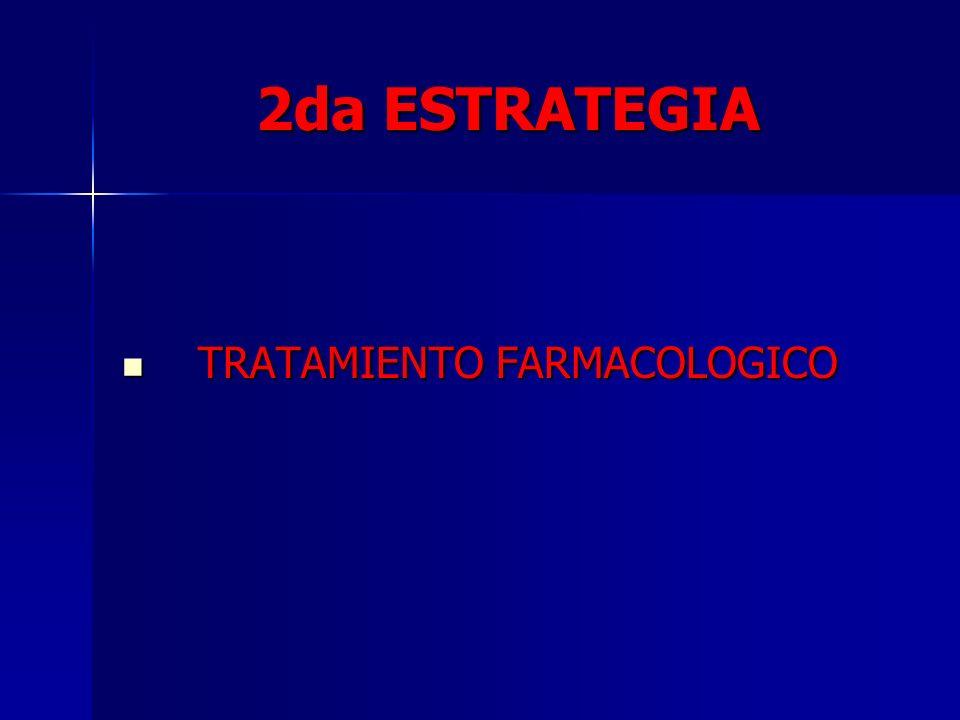 2da ESTRATEGIA TRATAMIENTO FARMACOLOGICO TRATAMIENTO FARMACOLOGICO