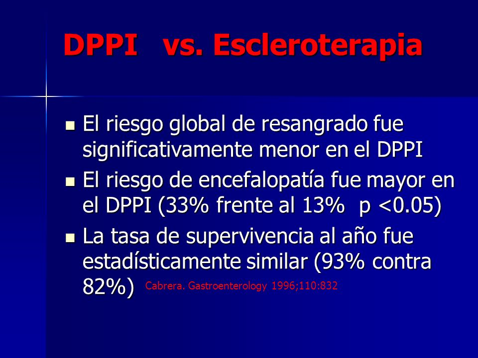 DPPI vs.Escleroterapia DPPI vs.