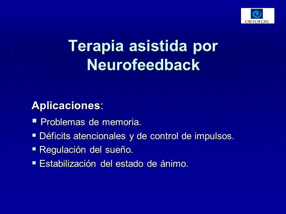 Aplicaciones: Problemas de memoria. Problemas de memoria. Déficits atencionales y de control de impulsos. Déficits atencionales y de control de impuls