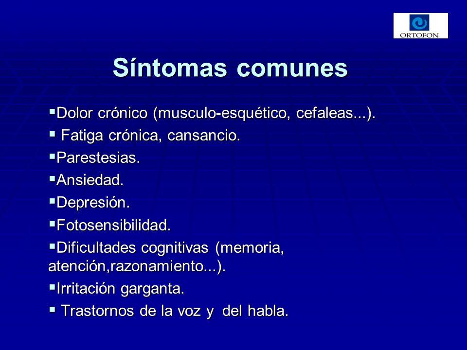 Dolor crónico (musculo-esquético, cefaleas...).Dolor crónico (musculo-esquético, cefaleas...).