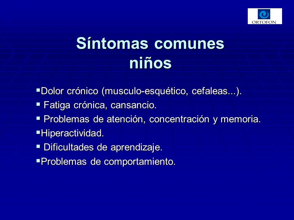 Dolor crónico (musculo-esquético, cefaleas...). Dolor crónico (musculo-esquético, cefaleas...). Fatiga crónica, cansancio. Fatiga crónica, cansancio.