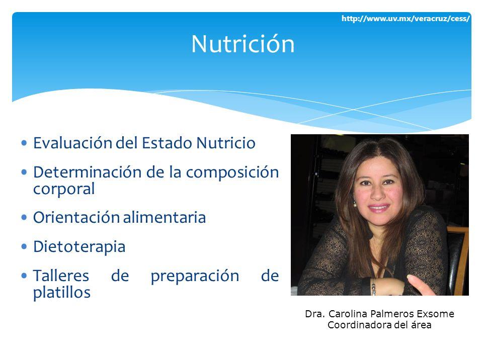 http://www.uv.mx/veracruz/cess/ Evaluación del Estado Nutricio Determinación de la composición corporal Orientación alimentaria Dietoterapia Talleres