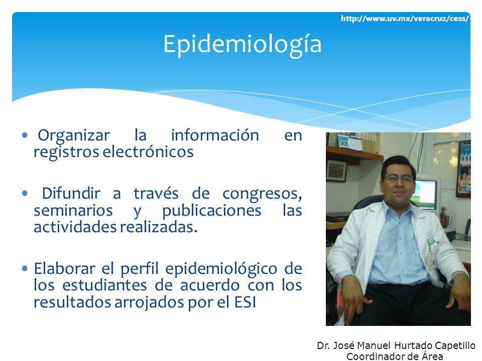 http://www.uv.mx/veracruz/cess/ Organizar la información en registros electrónicos Difundir a través de congresos, seminarios y publicaciones las acti