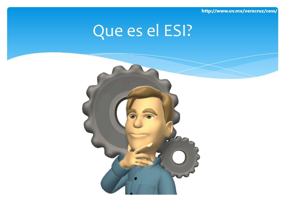 http://www.uv.mx/veracruz/cess/ Que es el ESI?