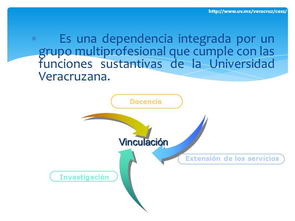 http://www.uv.mx/veracruz/cess/ Es una dependencia integrada por un grupo multiprofesional que cumple con las funciones sustantivas de la Universidad