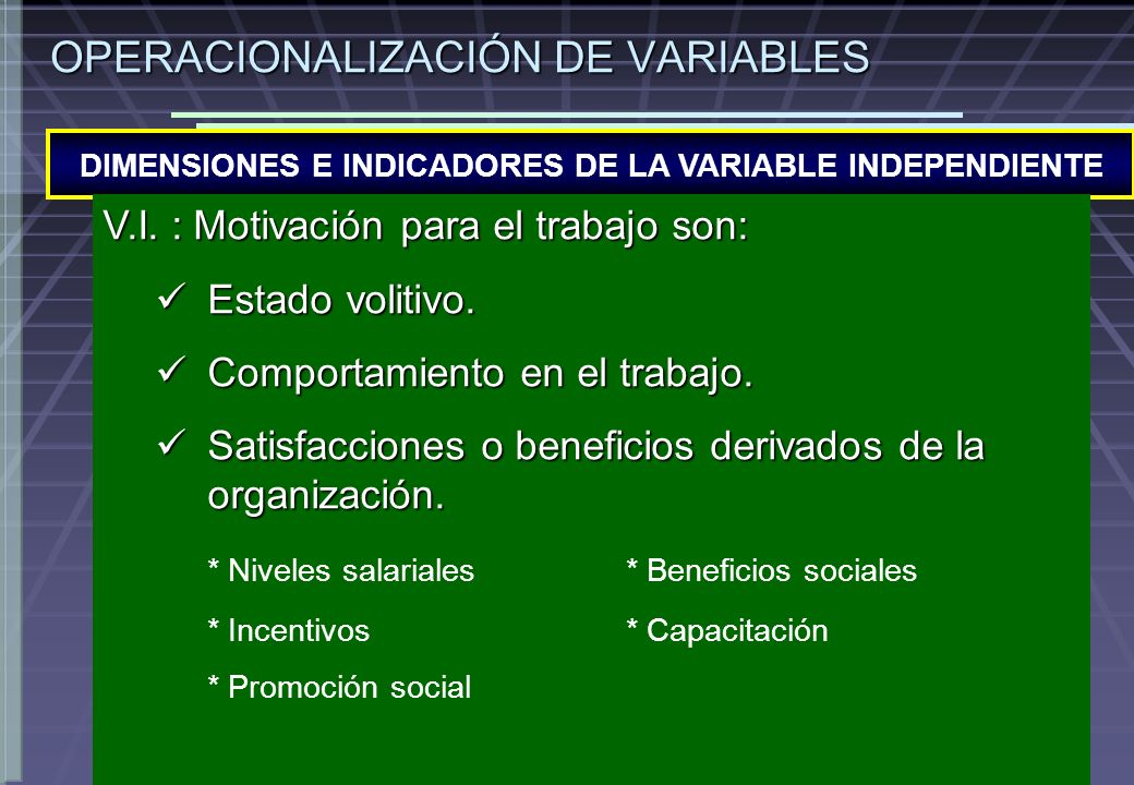 DIMENSIONES E INDICADORES DE LA VARIABLE INDEPENDIENTE OPERACIONALIZACIÓN DE VARIABLES V.I.