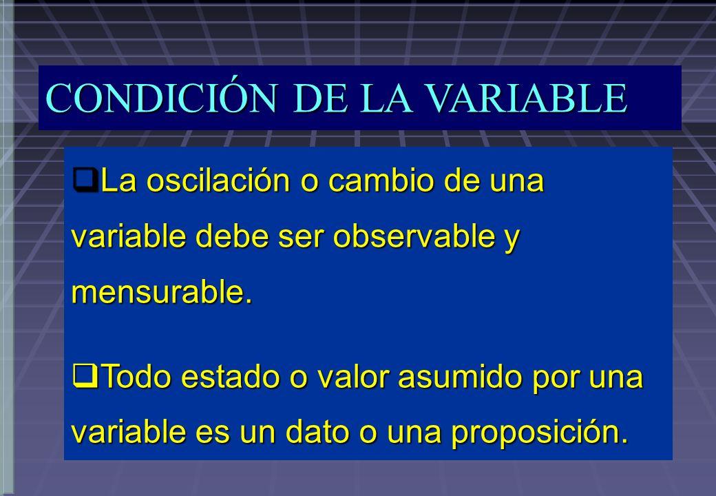 MEDICION DE VARIABLES MEDICION - Es la asignación de números a las observaciones, de modo que los números sean susceptibles de análisis por medio de manipulaciones y operaciones de acuerdo con ciertas reglas.