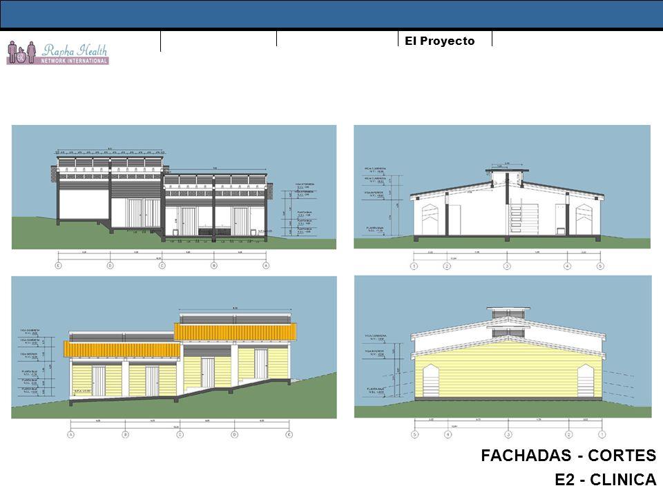 El Proyecto FACHADAS - CORTES E2 - CLINICA