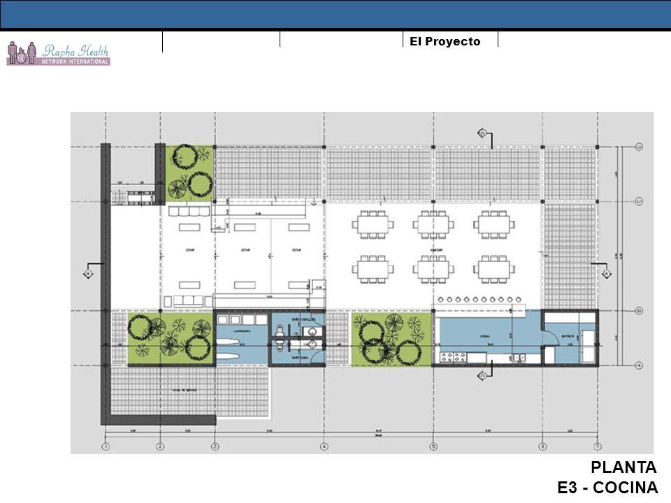 El Proyecto PLANTA E3 - COCINA