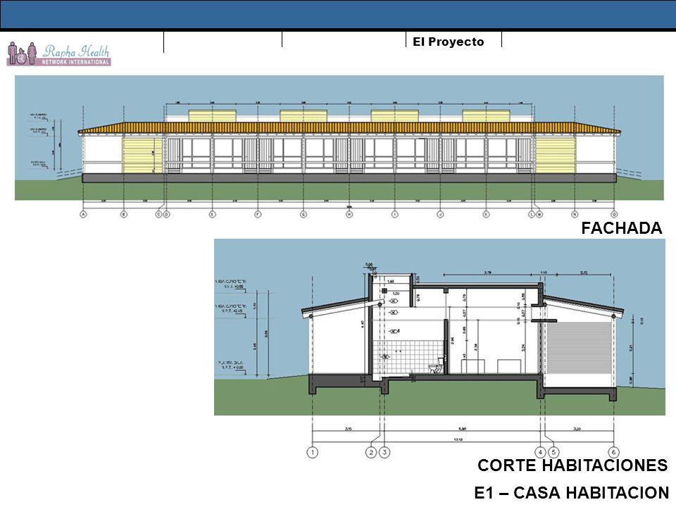 El Proyecto FACHADA E1 – CASA HABITACION CORTE HABITACIONES