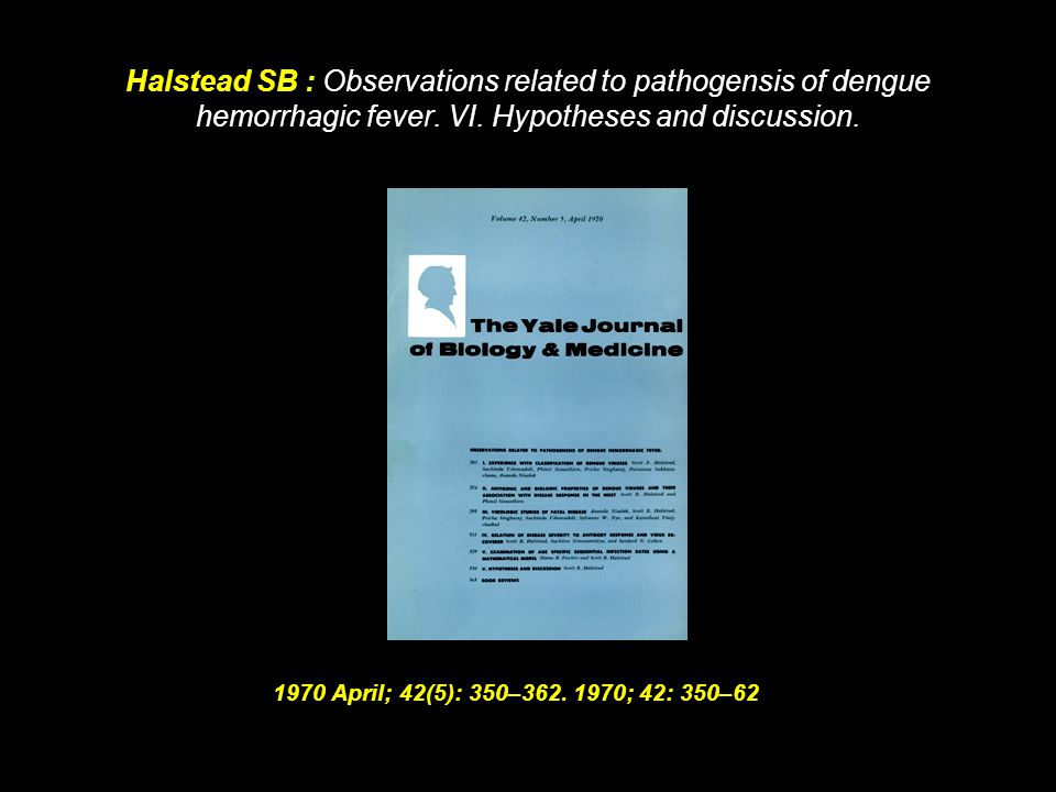 Halstead SB: Pathogenesis of dengue: challenges to molecular biology. 1988; 239: 476–81.