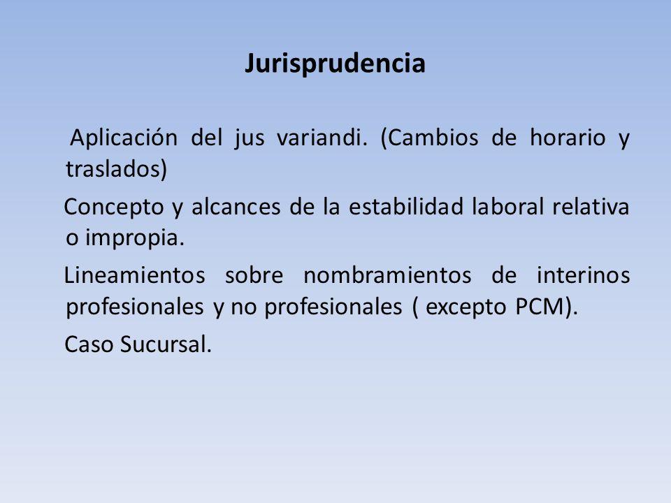 Jurisprudencia Aplicación del jus variandi.
